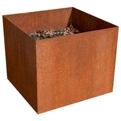 Custom Rustic Rusted Metal Planters