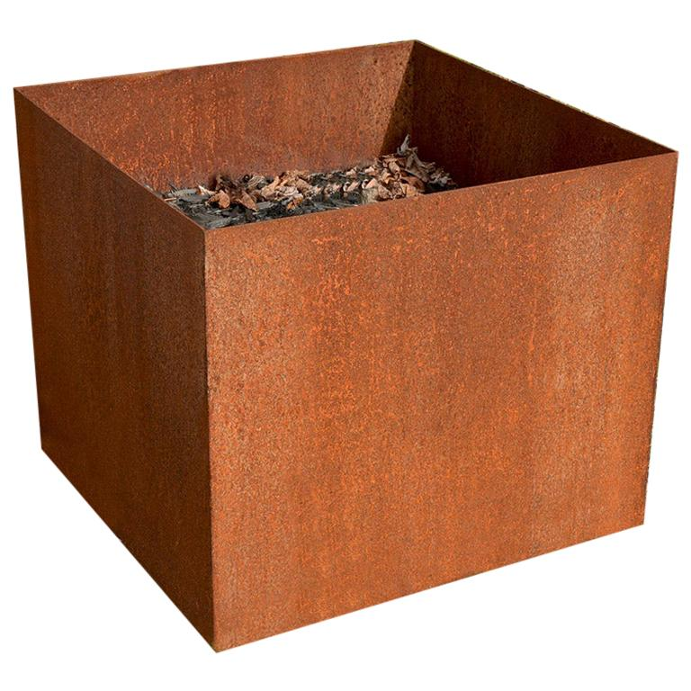 Custom Rustic Rusted Metal Planters For Sale