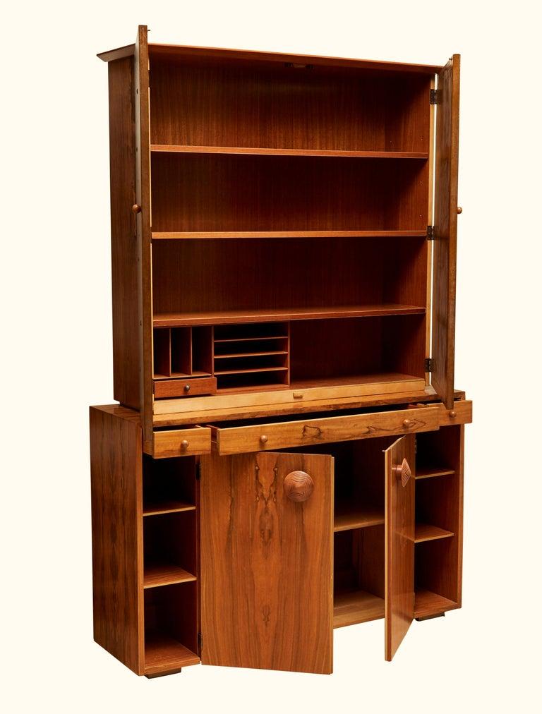 Mid-Century Modern Custom Secretary Bookcase / Cabinet by Gilbert Rohde Paldo for Herman Miller For Sale