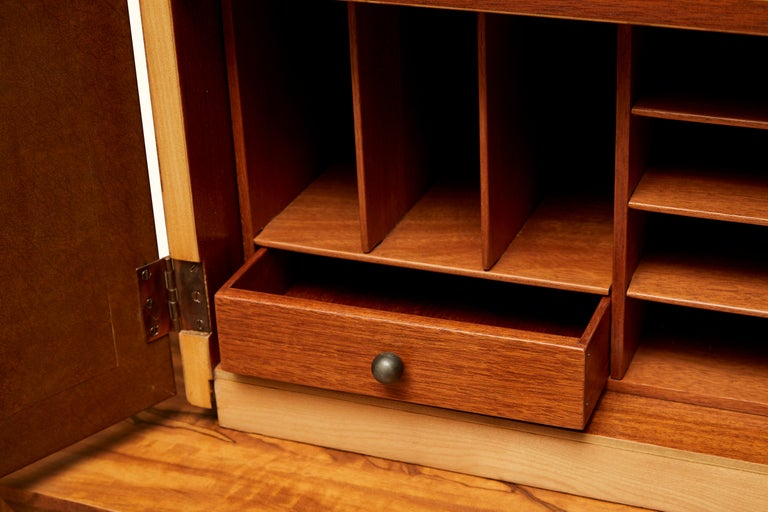 Mid-20th Century Custom Secretary Bookcase / Cabinet by Gilbert Rohde Paldo for Herman Miller For Sale