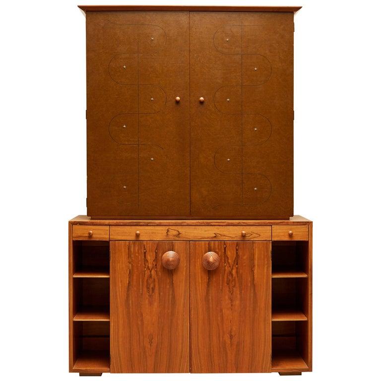 Custom Secretary Bookcase / Cabinet by Gilbert Rohde Paldo for Herman Miller For Sale