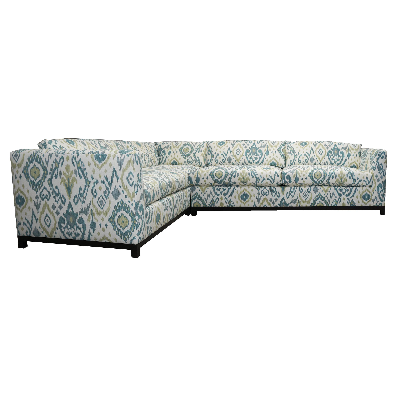 Custom Sectional Sofa with Wood Base