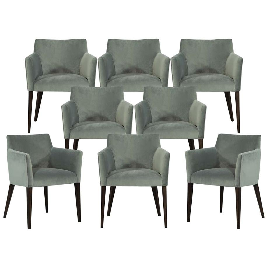 Custom Set of Eight Modern Dining Chairs by Carrocel