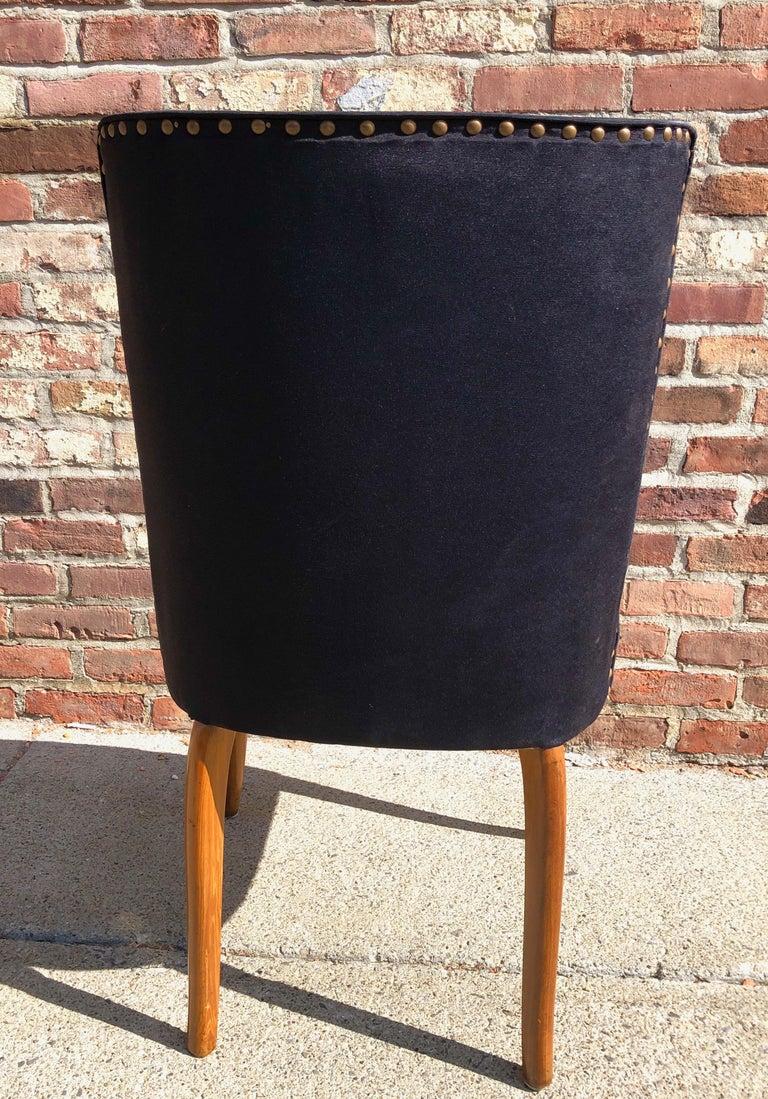 Custom Set of Six Dining Chairs by Robsjohn-Gibbings For Sale 4