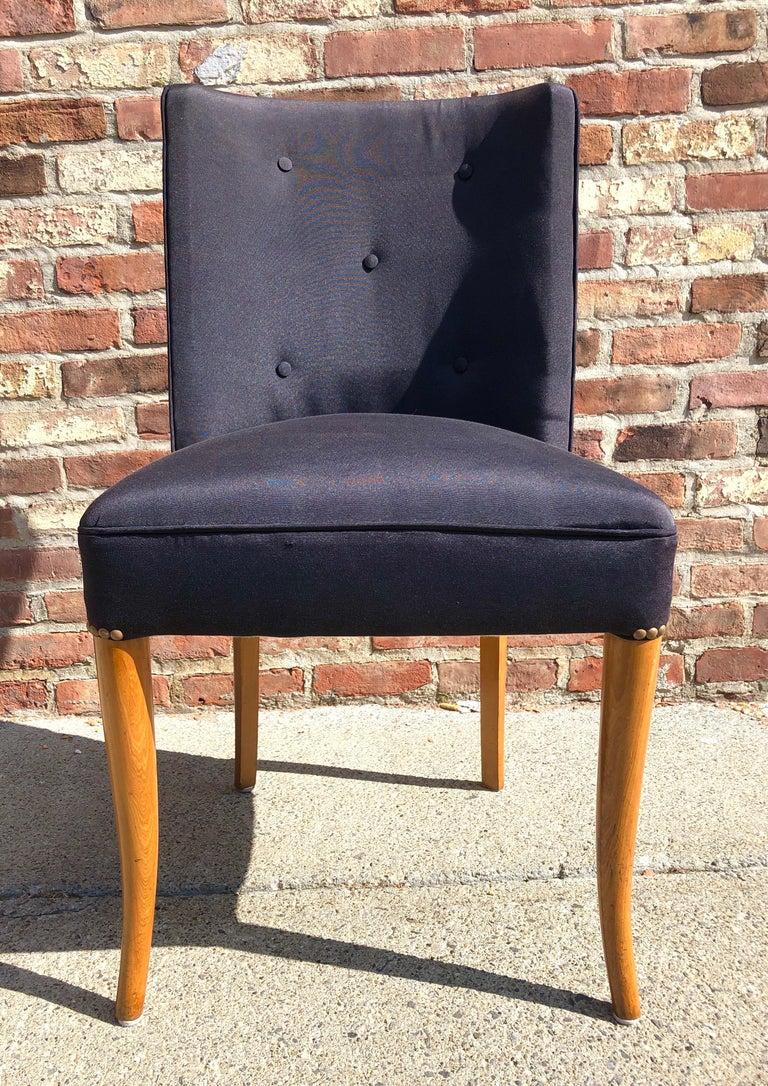 Custom Set of Six Dining Chairs by Robsjohn-Gibbings For Sale 5