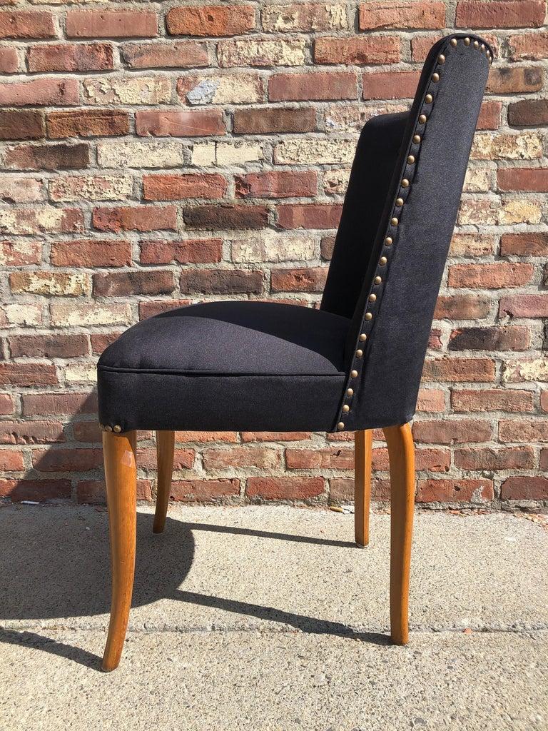 Custom Set of Six Dining Chairs by Robsjohn-Gibbings For Sale 6