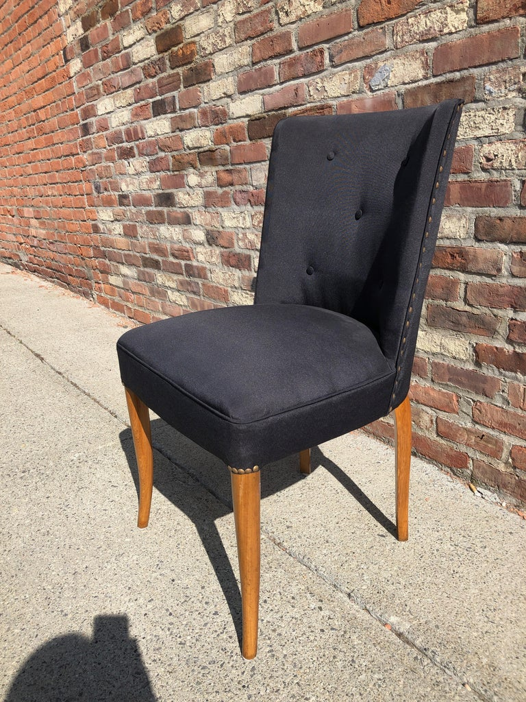 Mid-20th Century Custom Set of Six Dining Chairs by Robsjohn-Gibbings For Sale