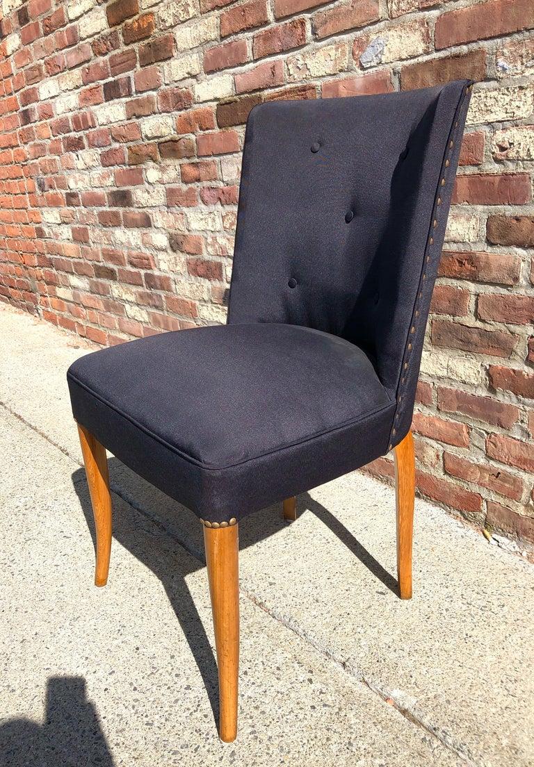 Custom Set of Six Dining Chairs by Robsjohn-Gibbings For Sale 1