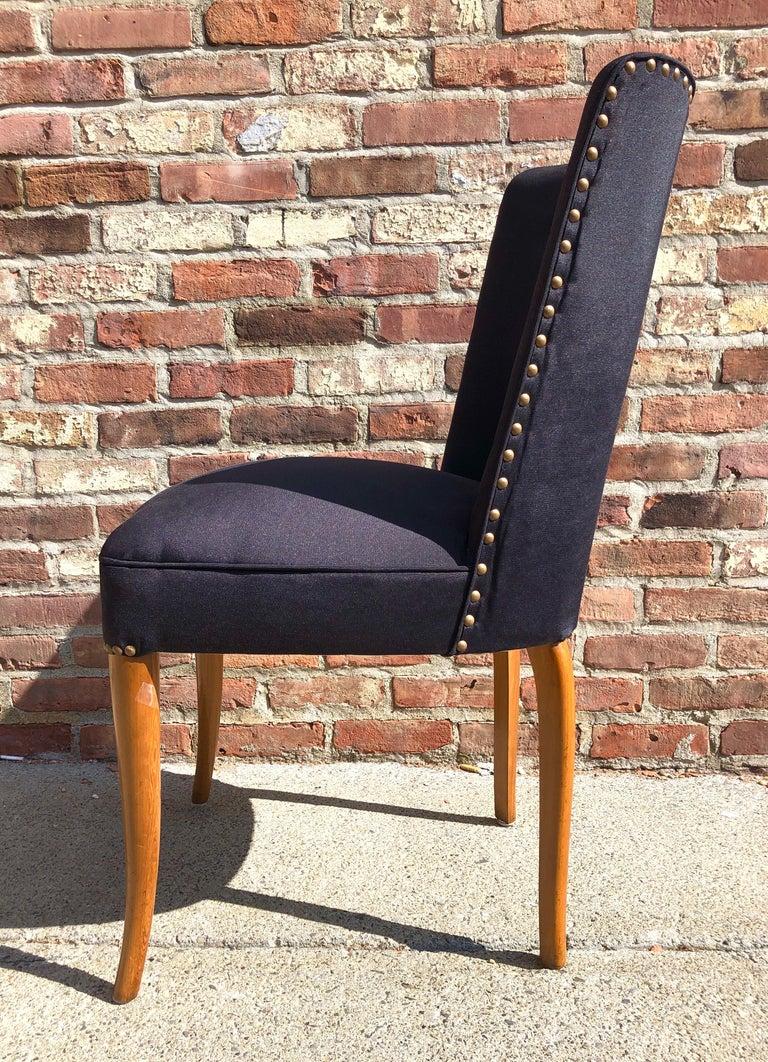 Custom Set of Six Dining Chairs by Robsjohn-Gibbings For Sale 2