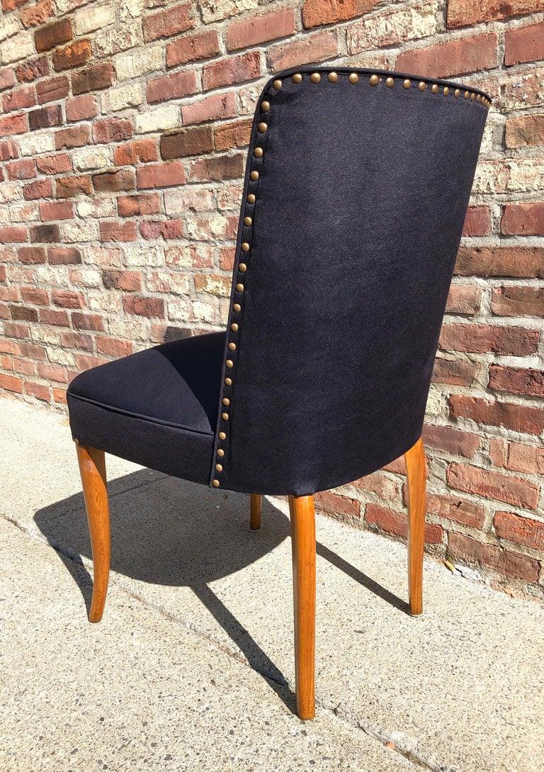 Custom Set of Six Dining Chairs by Robsjohn-Gibbings For Sale 3