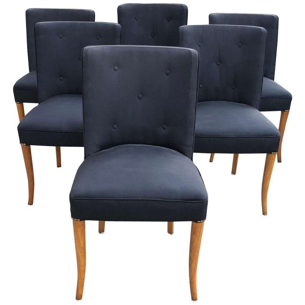 Custom Set of Six Dining Chairs by Robsjohn-Gibbings