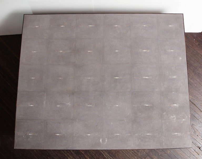Custom Shagreen Cocktail Table In Excellent Condition For Sale In New York, NY