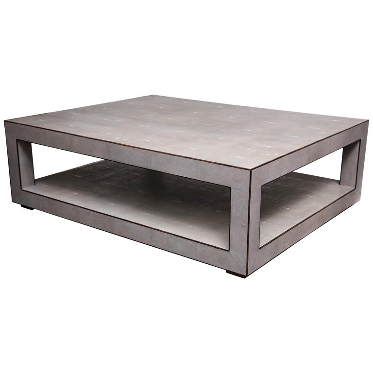 Custom Shagreen Cocktail Table For Sale