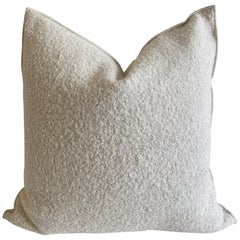 Custom Sheep Style Wool and linen Blend Accent Pillow with Down Insert