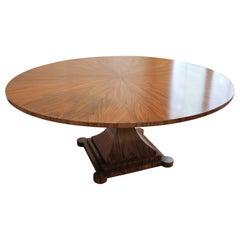 Custom Single Pedestal Walnut Mulholland Soltace Dining Table