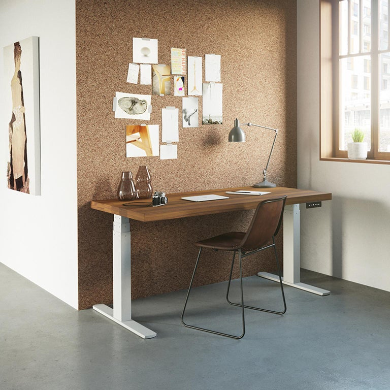 Break up long periods of sitting at a desk and improve your productivity by switching to standing. The height adjustable Essentials Desk gives you the freedom to do both. The desks height can be adjusted to your comfort level in seconds with its