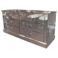 Custom Six-Drawer Mirrored Dresser
