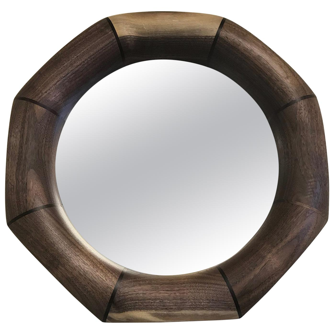 Custom Solid Walnut Mirror