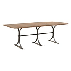 Custom Spanish Reclaimed Wood And Iron Table