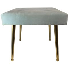 Custom Square Brass Pointe Leg Bench or Stool