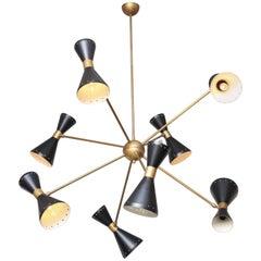 Custom Stilnovo Brass and Black Sputnik