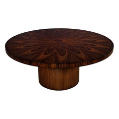 Custom Sunburst Modern Round Dining Table by Carrocel