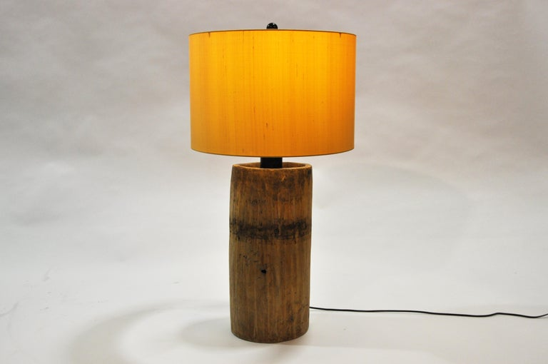 Custom Table Lamp Made from Reclaimed Wood For Sale 5