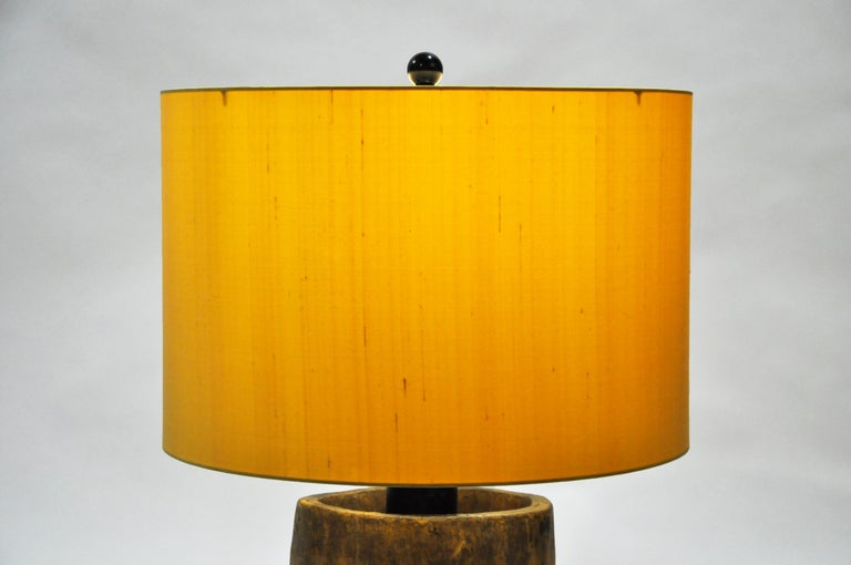 Custom Table Lamp Made from Reclaimed Wood For Sale 6