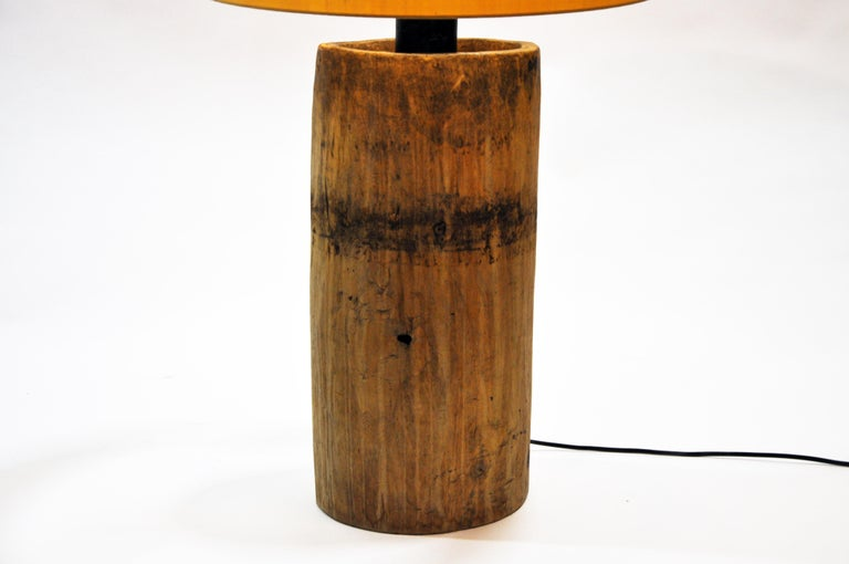 Custom Table Lamp Made from Reclaimed Wood For Sale 7