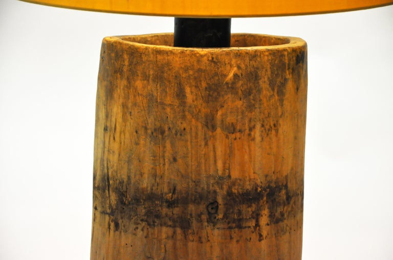 Custom Table Lamp Made from Reclaimed Wood For Sale 8