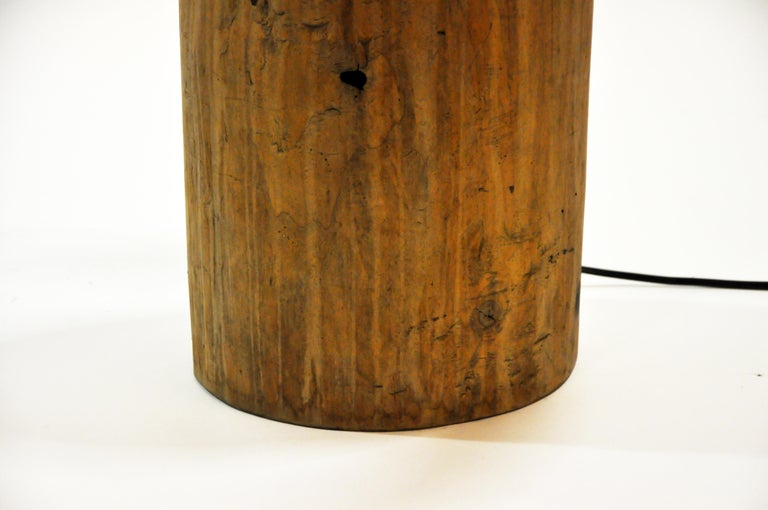 Custom Table Lamp Made from Reclaimed Wood For Sale 9