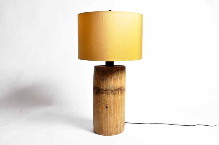 Custom Table Lamp Made from Reclaimed Wood For Sale 11