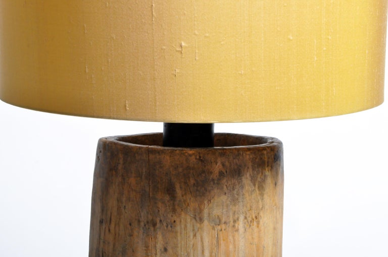 Custom Table Lamp Made from Reclaimed Wood For Sale 1