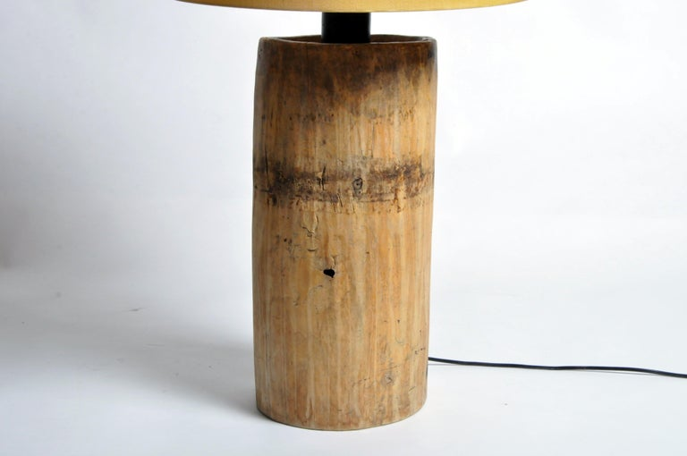 Custom Table Lamp Made from Reclaimed Wood For Sale 2