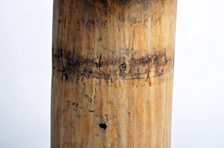 Custom Table Lamp Made from Reclaimed Wood For Sale 3