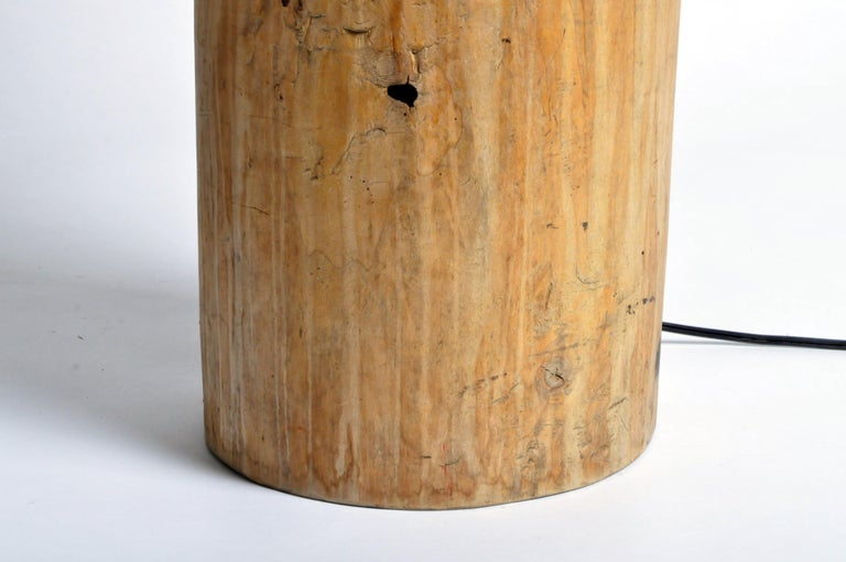 Custom Table Lamp Made from Reclaimed Wood For Sale 4