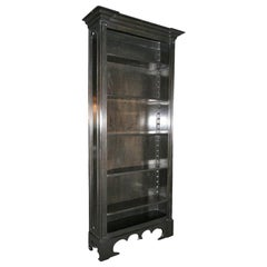 Custom Tall Ebonized Bookcase with Adjustable Shelves by Adesso Imports