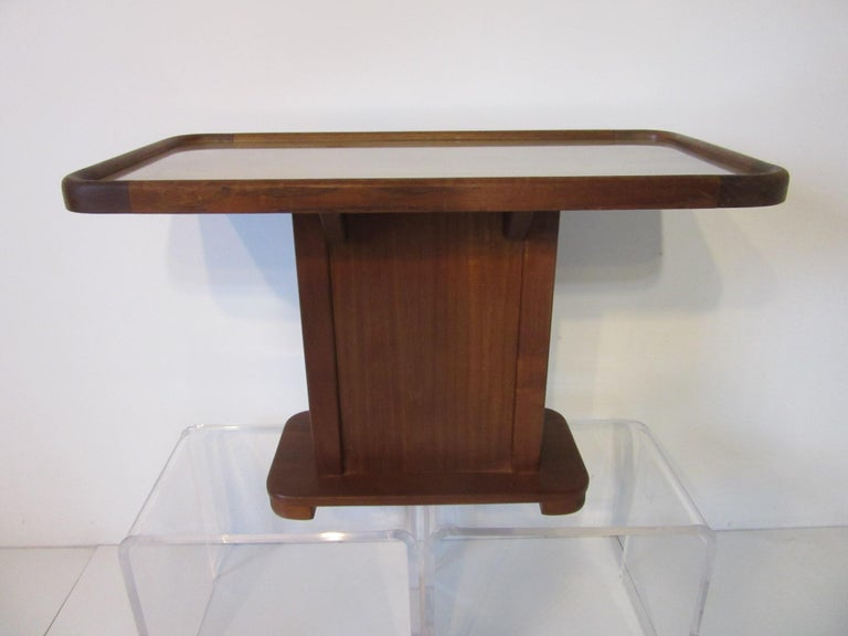 20th Century Custom Teak Presentation Side Table by the Chris Craft Boat Company  For Sale