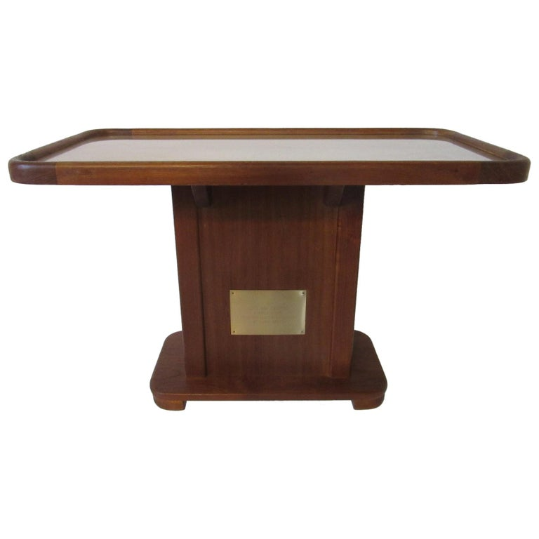 Custom Teak Presentation Side Table by the Chris Craft Boat Company  For Sale