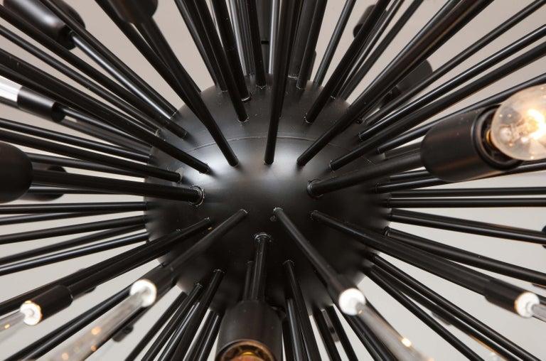 Custom Teardrop and Glass Rod Sputnik Chandelier For Sale 5
