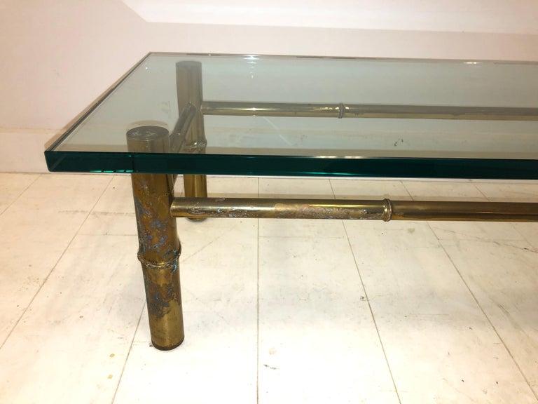 Custom T.H. Robsjohn-Gibbings Brass Coffee Table, for Kandell Residence For Sale 3