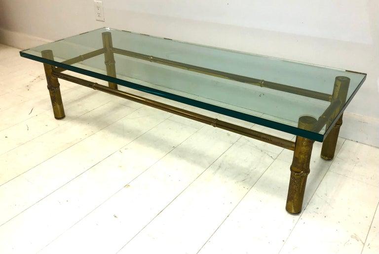 Cast Custom T.H. Robsjohn-Gibbings Brass Coffee Table, for Kandell Residence For Sale