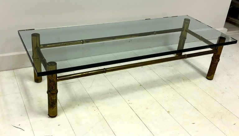 Custom T.H. Robsjohn-Gibbings Brass Coffee Table, for Kandell Residence In Good Condition For Sale In Hudson, NY