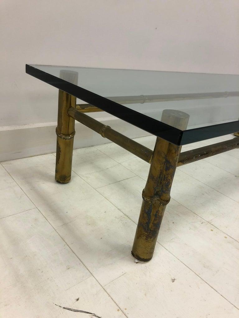 20th Century Custom T.H. Robsjohn-Gibbings Brass Coffee Table, for Kandell Residence For Sale