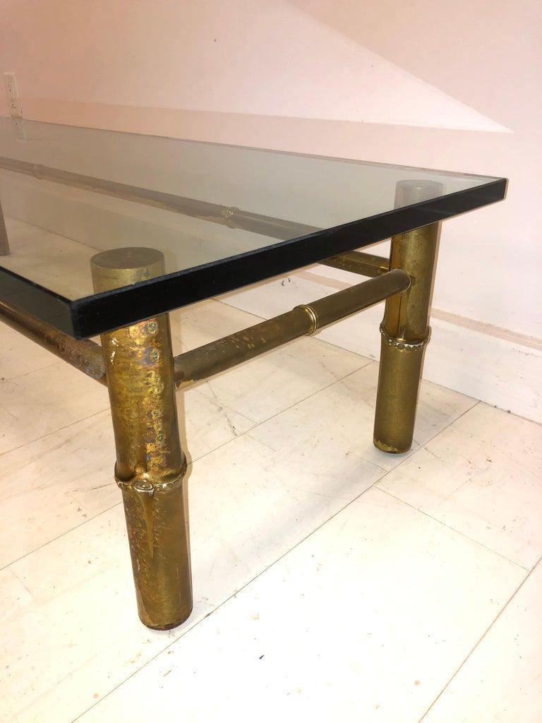 Custom T.H. Robsjohn-Gibbings Brass Coffee Table, for Kandell Residence For Sale 1