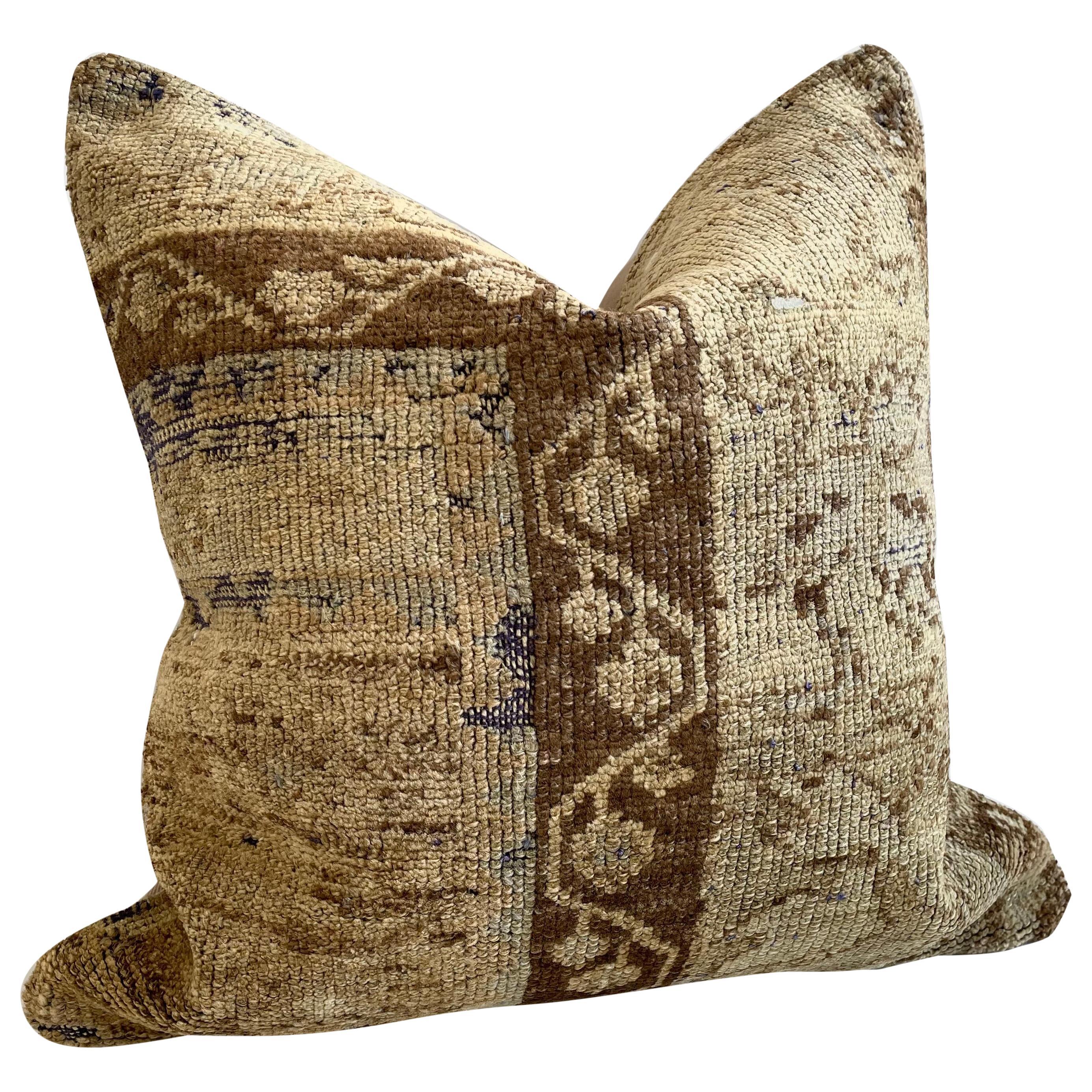 Custom Turkish Kilim Rug Wool Pillow with Insert