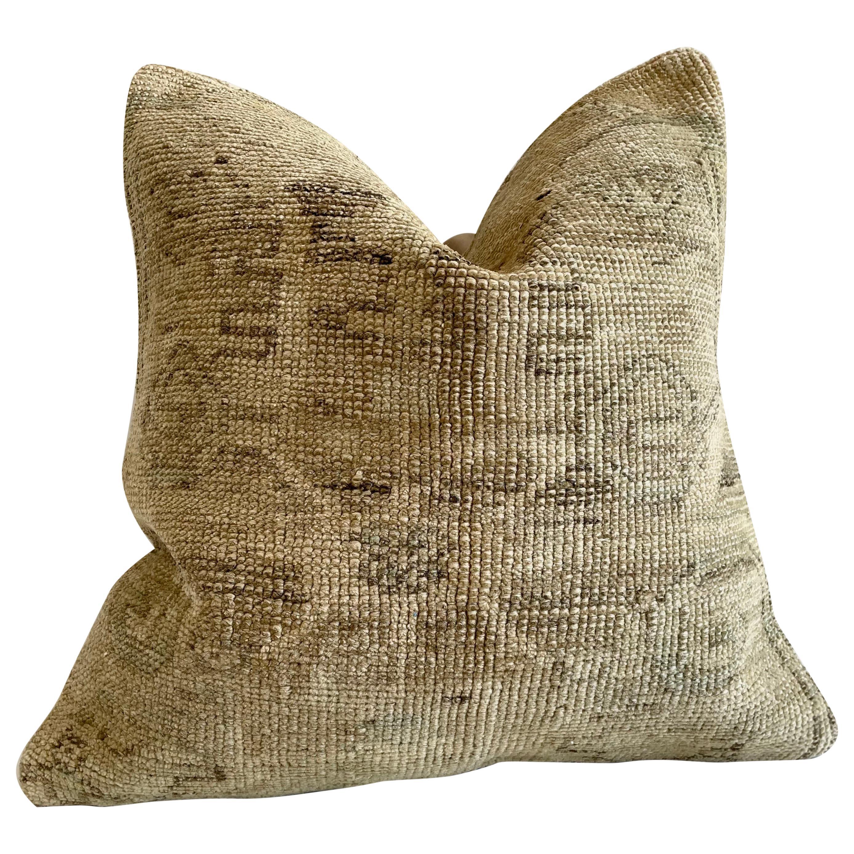 Custom Turkish Kilim Rug Wool Pillow with Insert.