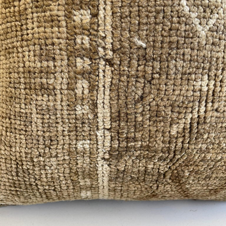 Contemporary Custom Turkish Kilim Rug Wool Pillow with Insert For Sale