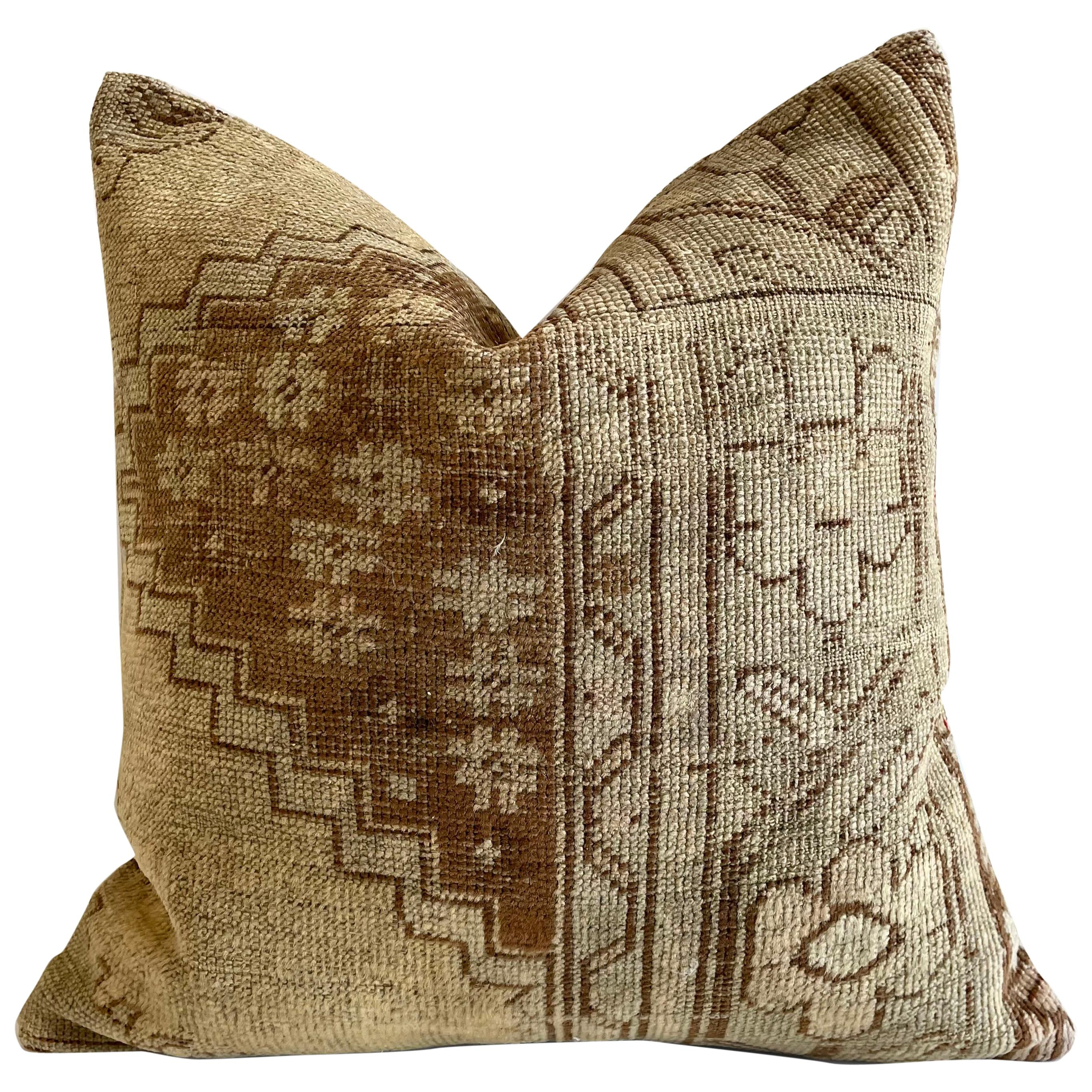 Custom Turkish Kilim Rug Wool Pillow with Insert