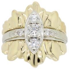 Custom Two-Tone Diamond Cocktail Ring